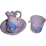 Set 3 piece old wash set for doll or dolls house