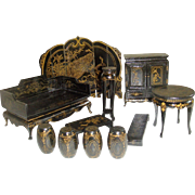 Boxed set Chinese Chinoiserie furniture