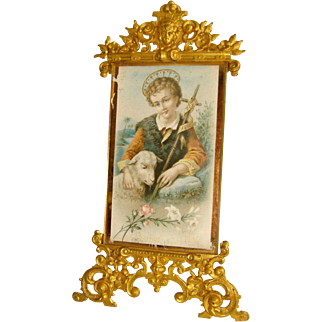 French ormolu free standing frame