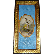 Hand painted miniature picture for dolls house