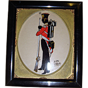 Miniature pen and ink soldier 1832