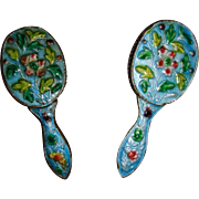 Beautiful enameled brush and mirror for FF doll