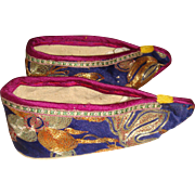 Beautifully embroidered Chinese lotus shoes