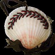 Unusual Victorian shell needle case