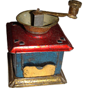 Penny toy tinplate coffee grinder