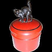 Halloween black cat on celluloid pot