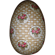 Beautiful fabric covered egg for doll