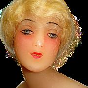Wax mannequin bust