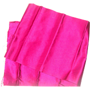Cerise silk for doll clothes