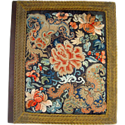 Chinese embroidery covered blotter