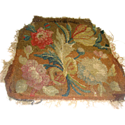 Eighteenth century needle work with flowers