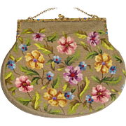 Beautiful old needle work bag with provenance