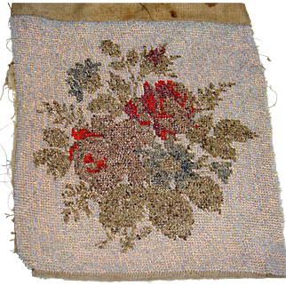 Pretty antique bead work with roses