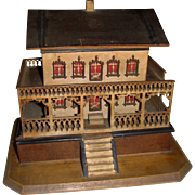 Delightful miniature chalet jewelry box with provenance