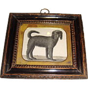 Miniature early print of a dog