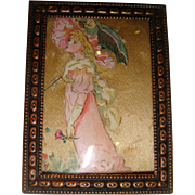 Miniature water color of lady for dolls house