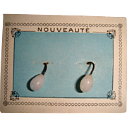 Pair or earrings for doll on original card