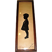 Signed silhouette picture of boy
