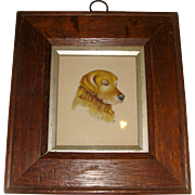 Signed water color of dog head