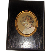 Miniature gouache picture of child