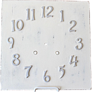 Vintage Wood Clock Face With Metal Numerals