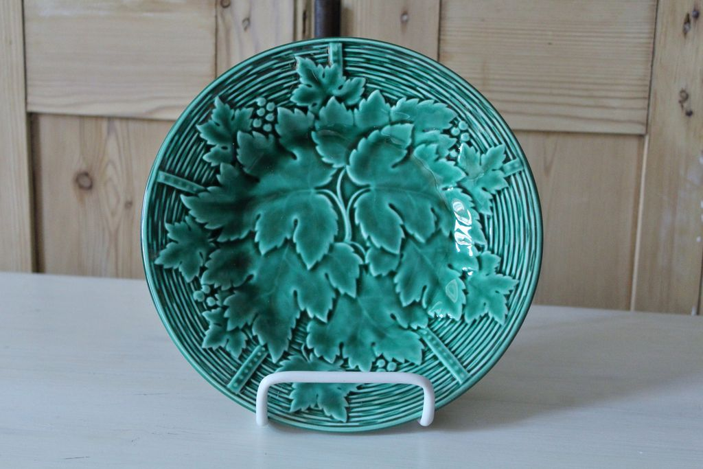 Vintage French Majolica Plate