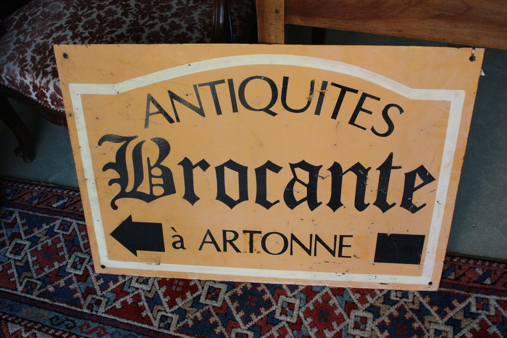 Vintage French Brocantes Sign