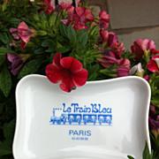 French Vintage Le Train Bleu Restaurant Mini Porcelain Tray
