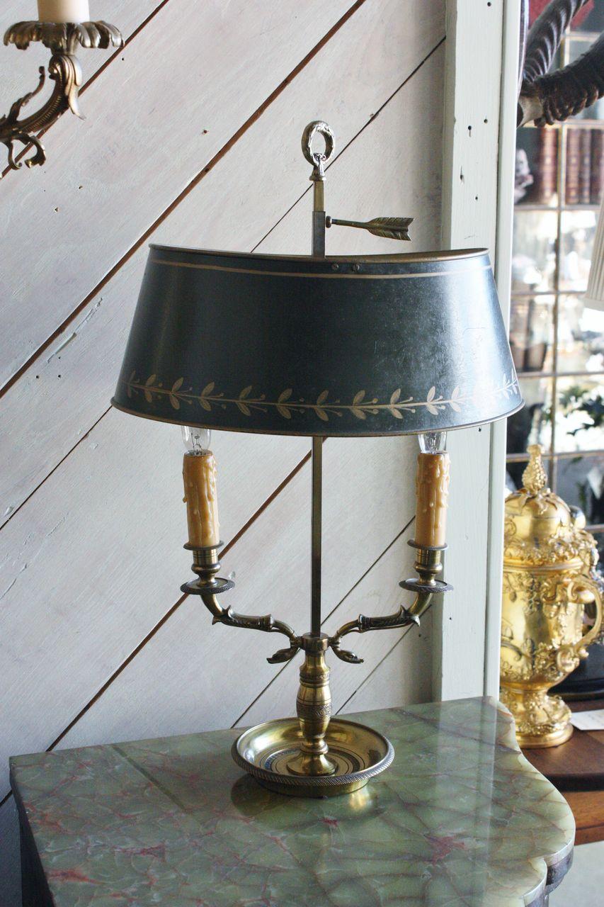 French Tole Bouillotte Lamp