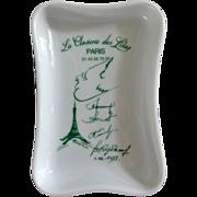 Vintage French Restaurant Porcelain Tray 1973