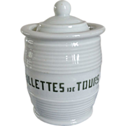 Very Old French Pottery Rillettes Crock