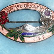B.P.O.Elks Grand Reunion Portland, Oregon Enamel Pin - ca. 1912
