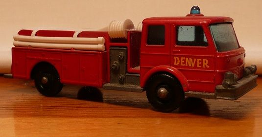 Matchbox #29c - Denver Fire Pumper Truck - ca. 1966-70