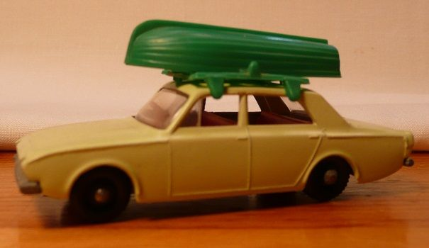 Matchbox #45b - Ford Corsair w/Boat & Roof Rack - ca. 1965-70