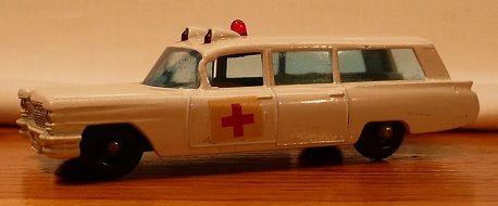 Matchbox #54b - S&S Cadillac Ambulance - ca. 1965-69