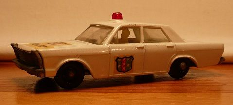 Matchbox #55c - Ford Galaxy ('Galaxie') Police Car - Red Light - ca. 1965-69