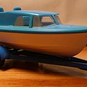 Matchbox #9d - Cabin Cruiser and Trailer - ca. 1966-69