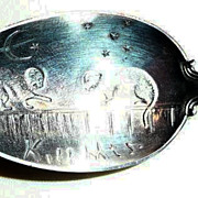 Sterling RW&Co./LDA Catskill Mtn's Rebus Spoon - ca. 1890-1950