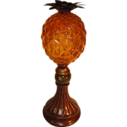 Art Deco Pineapple on a Stick.  Lucite Onyx.