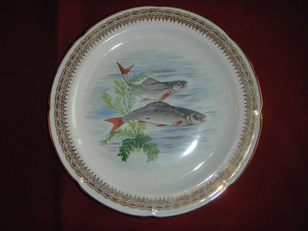 french limoges fish service set 8 plates pates et maux c g de from dutchantiques on ruby lane. Black Bedroom Furniture Sets. Home Design Ideas