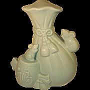 Japanese Celadon Porcelain Bottle by Suwa Sozan I
