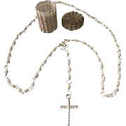 Dutch Silver Necklace Holy Cross with Basket