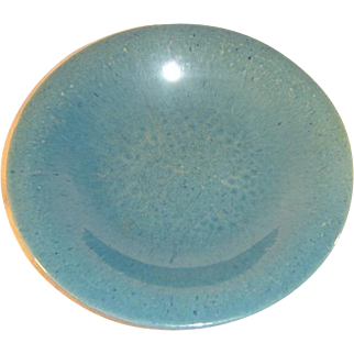 Antique Chinese Qing Dynasty Celadon Glazed Stoneware Plate.