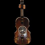 Vintage Wooden Barometer & Thermostat Fiddle our Violin shape.