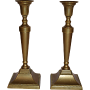 19TH Century Continental Brass Candlesticks / Candle Holder.