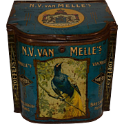 N.V. van Melle`s Toffees Confectionary Store Bin Blue. XL size Tin Can.