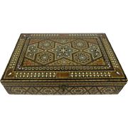 Syrian Damascus Marquetry Inlaid Jewelry Box.