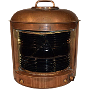 Nautical Copper Ships Lantern Marine Lamp by Perkins U.S.A. Marine.