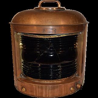 Nautical Copper Ships Lantern Marine Lamp by Perkins U.S.A. Marine.