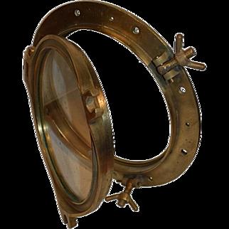 "Antique Dutch Nautical Brass Ships Porthole. 20"""